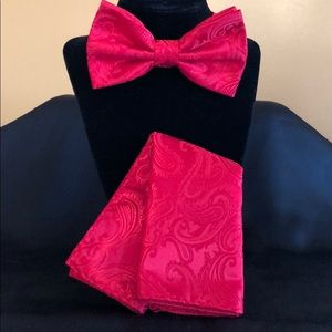 Bow Tie and Pocket Square set by Brand Q